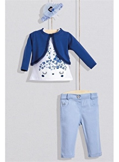 Wogi Wogi Kız Bebek Tişört Bolero Pantolon 4lü Set 3-36 Ay WG20S-5452